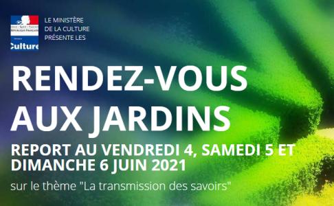 A vos agendas : nouvelles dates pour les Rendez-vous aux jardins en 2021 !