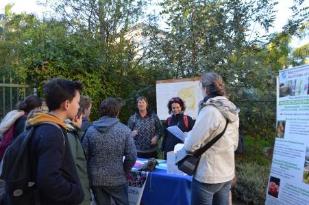 Accueil par le CPIE des collégiens au Jardin Thuret le 8 décembre 2016