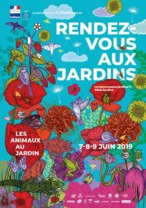 Affiche officielle RDV aux jardins 2019